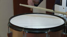 Playing the drum. stock video footage
