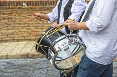 Playing the drum Stock Image