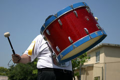 Playing drum at parade Stock Photo