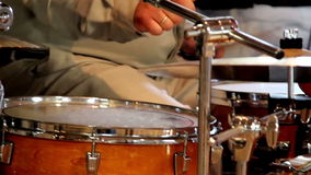 Playing the Drum set with a fine tune stock video