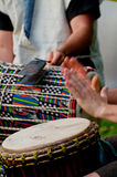 Playing drums Royalty Free Stock Photos