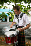 Playing the drums. Royalty Free Stock Images