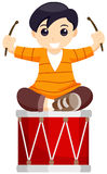 Playing Drums Royalty Free Stock Photography