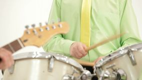 Playing Drums stock footage