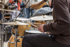 Playing Drums Royalty Free Stock Photo