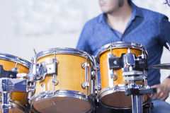 Playing the drums Royalty Free Stock Image