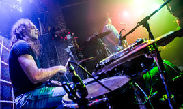 Playing drums Royalty Free Stock Image