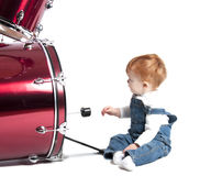 Playing the drums Royalty Free Stock Photo