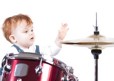 Playing with drums Royalty Free Stock Photo
