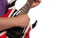 Playing the Electric Guitar Royalty Free Stock Images