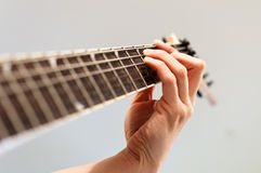 Playing electric guitar Stock Photos