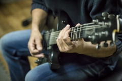 Free Playing Electric Guitar Stock Photos - 52789053