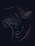 Playing electric guitar. Stock Photos