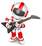 The playing electric guitar in Robot Stock Photography