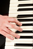 Playing An Electric Keyboard Stock Images