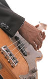 An playing electrical guitar. An hand playing electrical guitar Stock Photo