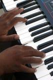 Playing electronic organ Royalty Free Stock Photos