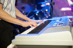 Playing Electronic Piano Royalty Free Stock Photo