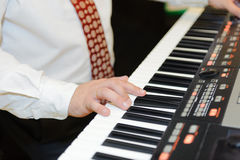 Playing Electronic Piano Royalty Free Stock Images