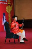 Playing the erhu boy Royalty Free Stock Photography