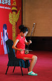 Playing the erhu girl Stock Photography
