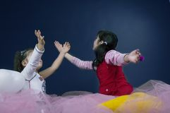 Playing in fairy land Royalty Free Stock Images