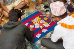 Playing Falash (Teen Pathi) in Nepal Royalty Free Stock Image