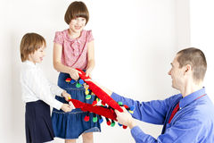 Playing family Stock Image