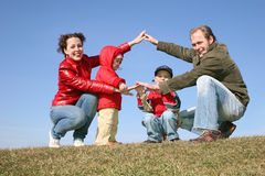 Playing family house Royalty Free Stock Photography