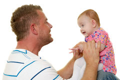Playing father and baby Stock Image