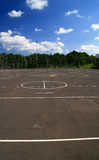 Playing field. And cloudy sky Royalty Free Stock Photography