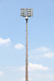 Playing field lights Royalty Free Stock Image