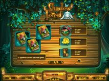 Playing field slots game for Shadowy forest GUI Royalty Free Stock Photos