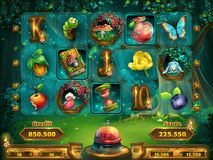 Playing field slots game for game user interface Stock Photo