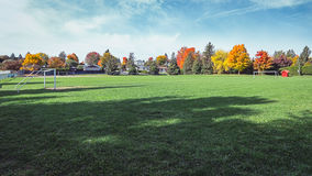 Playing field. In a wonderful afternoon fall day Royalty Free Stock Photo