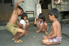 Playing Filipino children Stock Photos