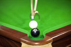 Playing the final ball Royalty Free Stock Image