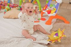 Playing on the floor Royalty Free Stock Photos