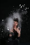 Playing with Flour Stock Photography