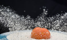 Playing with flour Stock Images