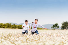 Playing among the flowers 12 Stock Images