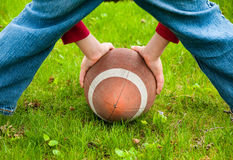 Playing football Royalty Free Stock Photo