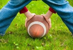 Playing football Royalty Free Stock Photo