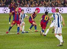 Playing football Stock Image