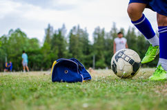 Playing football Royalty Free Stock Photos