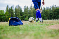 Playing football Royalty Free Stock Photography