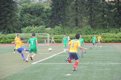 The playing football of Company staff in shenzhen shekou sports center Stock Photography