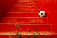 Playing football  - travel Royalty Free Stock Photography