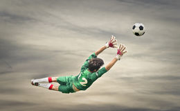Playing football Royalty Free Stock Images