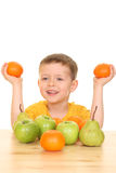 Playing with fruits Stock Photography